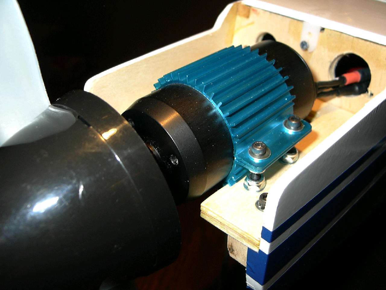 The completed 45/3 mounting, ready to power-up.