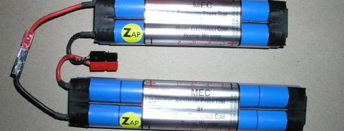 If left to my own devices, I probably would have gone with 3 six packs; but Pete at MEC gave me a different idea � how about some Zapped cells in Solderless Power Tubes (SPTs)?