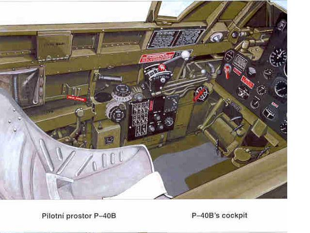 Attachment browser: p-40e cockpit-colour.jpg by Brad Trent ...