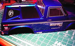 "custom 12-1/2"" wheelbase big foot body"