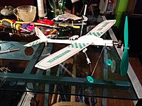 Name: IMG_20140725_005827[1].jpg Views: 51 Size: 649.9 KB Description: This is its look now. It actually doesnt look too bad. the next rudder will look a little nicer but overall, looks pretty good. Hopefully i can get it to fly that way.