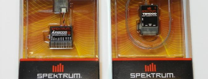 Spektrum AR8000 receiver and TM1000 telemetry module (telemetry provided by reviewer).