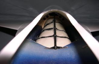 Intake shown after repair.