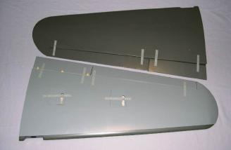 Outer wing panels, top and bottom