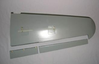 Outboard flap and aileron removed from outer wing panel