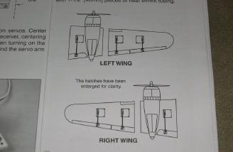 Correct flap layout.