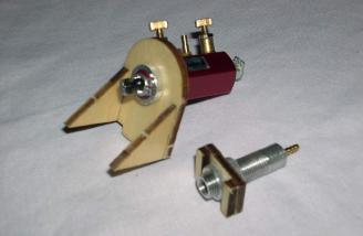 Air control valve and mount. Fill valve and mount.