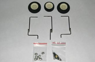 Wire landing gear, foam wheels, and accessories.