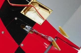 Aileron control rod installed.