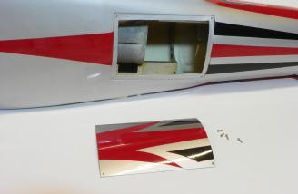 Fan and elevator servo hatch.