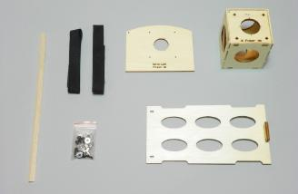 EP option parts, including firewall mount and battery tray.