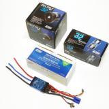 E-flite 80-Amp Pro Switch-Mode BEC Brushless ESC (V2), E-flite Delta-V� 32 80mm fan unit, E-flite 2150Kv DF32 brushless motor, and E-flite 6s 5000mah 22.2v Li-Po battery.