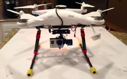 Phantom 2 w/retract landing gear, Tarot 2 axis gimbal, NAZA V2, Flysight 5.8Ghz  VTx