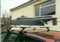 Name: Surcouf on BMW525i roofrack in Lancing.jpg