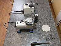 Name: RIMG0102.JPG Views: 12 Size: 358.1 KB Description: A typical hobby compressor compared to a dedicated vacuum pump.