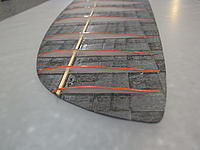 Name: vingemodell_36.JPG Views: 25 Size: 340.6 KB Description: This is basically the same carbon laminate but here it is made as a plate, I could have used 0,4mm plywood instead -the cost would probably be about the same for me.