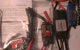 20amp,30amp, new, lke new, unused esc/ 8 hit or miss esc