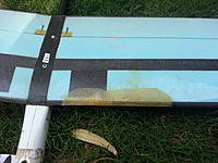 Name: 2wing repair1.jpg Views: 7 Size: 784.3 KB Description: A lightpost and a soccer goal. 2 separate incidents 1 bad pilot.