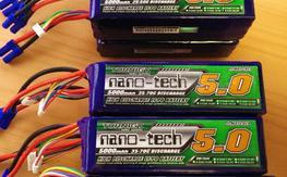 10x  Turnigy Nano-Tech 5000mah 6S LiPo