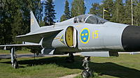 Name: 02062011118.jpg Views: 19 Size: 684.4 KB Description: The number 15 means this aircraft flew with the 15th group at Soederhamn air base where the museum is located now. The base was closed years ago following the end of the cold war. The aircraft is a AJS37, (Attack, Jakt , Spaning) fighter bomber and recon,