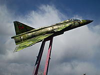 Name: AJ_37_Viggen_2.JPG Views: 19 Size: 72.5 KB Description: The pole Viggen at the E4 highway, This one is a  AJ37 Fighter bomber.