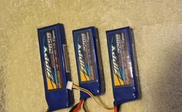 Zippy 30C Lipo Batteries (1x2650, 2x 2200)