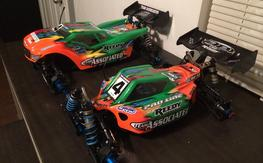 Team Associated rc8.2e & rc8te Factory Team 1/8 Brushless Rollers Buggy Truggy