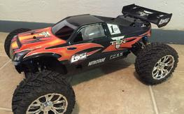 Losi TLR Ten-T Truggy Brushless Conversion 4x4 Roller 1/10 Very Nice