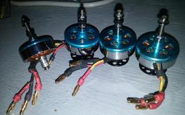 4 x hexTronik DT750 Brushless Outrunner 750kv