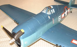 "New F6F Hellcat Brushless 39"" + Spektrum AR400"