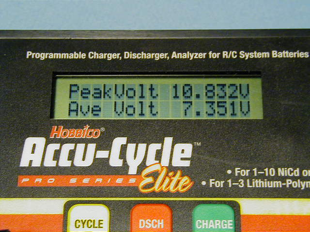 Voltages after a charge is completed.