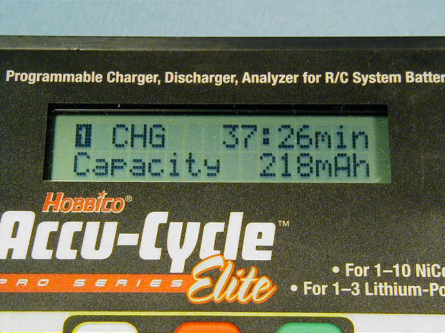 Capacity put into the battery and the elapsed time.