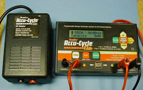 The power supply next to the AccuCycle Elite <small>(it was running on another power supply when I took the picture).</small>