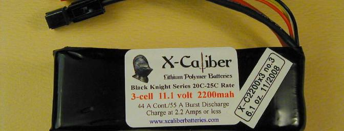 X-Caliber 3s 2200 mAh battery