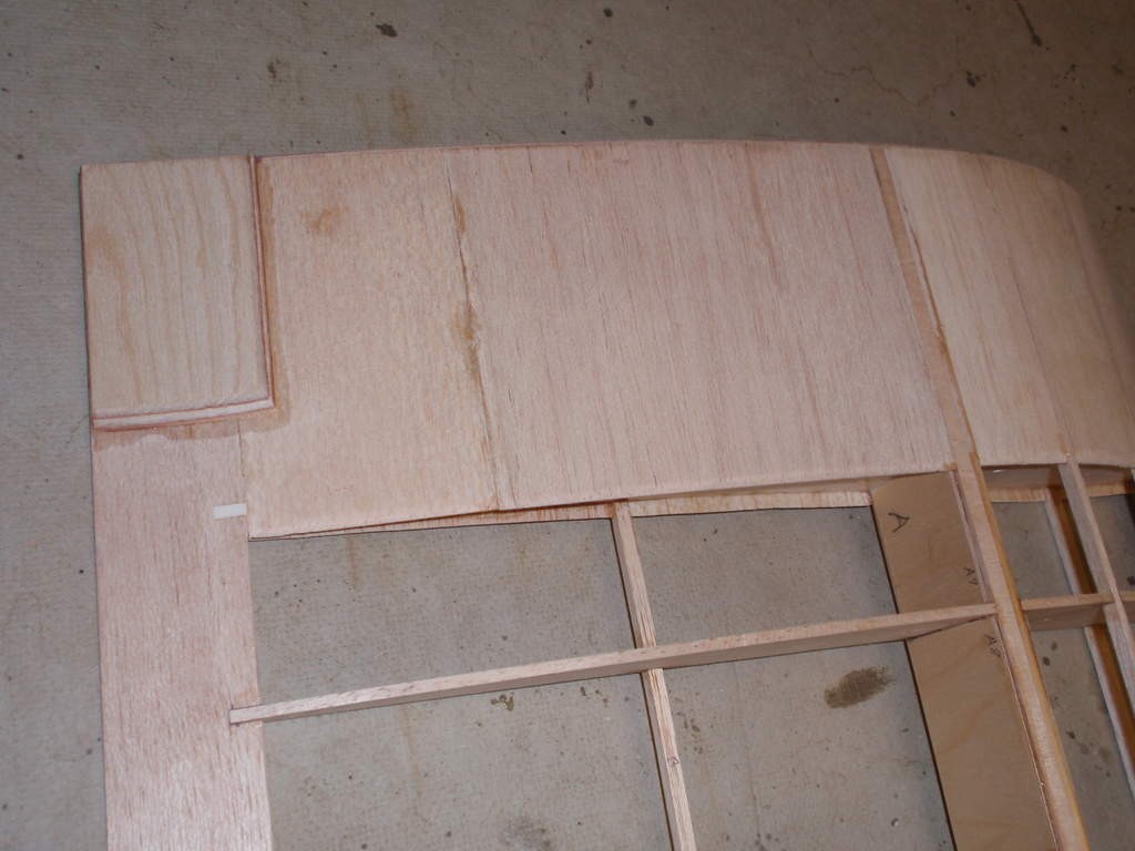 1/16 Plywood trailing edge reinforcement for wing mounting bolts,