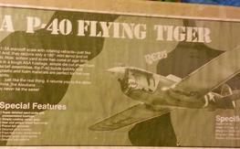 Vintage 1/2A P-40 FLYING TIGER KIT