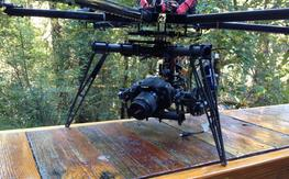 CarbonCore 950 with Wookong plus Cinestar 3 axis gimbal, batteries, and transmitters