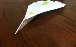 Origional Notebook Paper Airplane