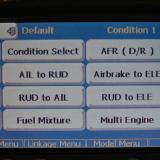As you can see, the Futaba 14MZ comes with pre-built mixing programs for Rudder to Elevator and Rudder to Aileron Mix. All you have to do is activate this mix and type in your percentage and you are ready to go. Talk about simplicity!