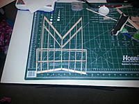 Name: wings main section.jpg Views: 55 Size: 711.2 KB Description: Wings are identical mirror and reflection. Created wing spars linked them together with front and trailing edge. custom sanded and shaped leading edge bevel. Section off flap/elevator section to cut out. Added support cross members top and bottom..