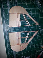 Name: Wing tip sections.jpg Views: 75 Size: 514.9 KB Description: Wing tip completed and the other exposed to show how I made the end semi circle befor finalizing cover.  Created spoileron x2 attached covered via single hinge to wing tip.