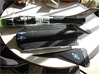 Name: Su-9 fuselage from SR-71 nacelles and F-9F canopy.jpg