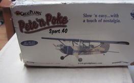 Great Planes Pete n Poke kit, NEW