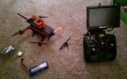 RTF folding quad with fpv, gps and batteries