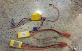 Three 30A ESCs (E-Flite and Dextrum)