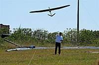Name: DSC_7090_DxO (Custom).jpg Views: 106 Size: 115.6 KB Description: Ben sends his Artemis up on a trim flight.