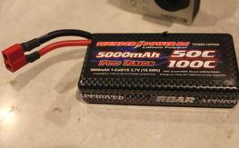 thunderpower 1s 5000mah 50c/100c pro race lipo