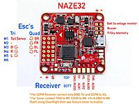 T Thumb Naze on Naze32 Receiver Wiring