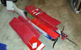 1/4 scale double vision 3d biplane 50cc