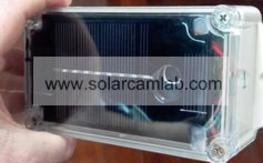 Solar camera for field checking: